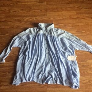 New free People over sized shirt sz xsmall